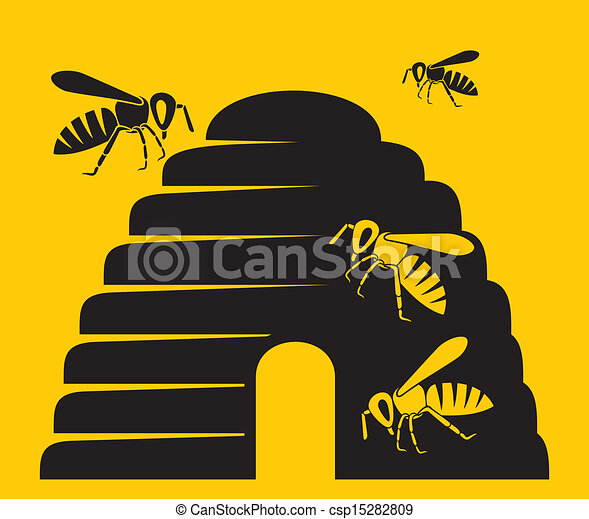 bees and beehive icon - csp15282809