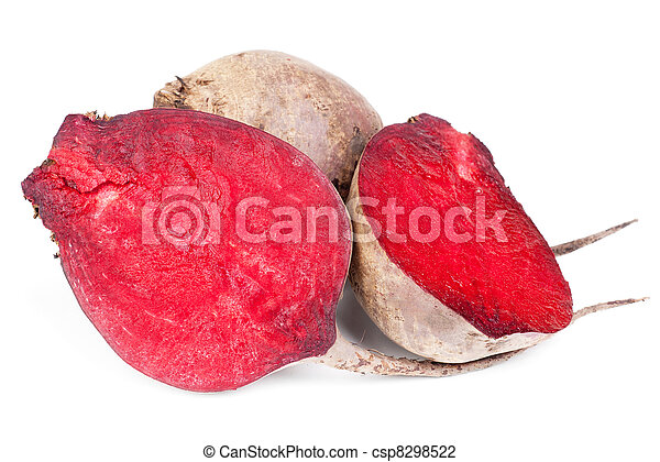 Beet purple vegetable isolated on white background  - csp8298522
