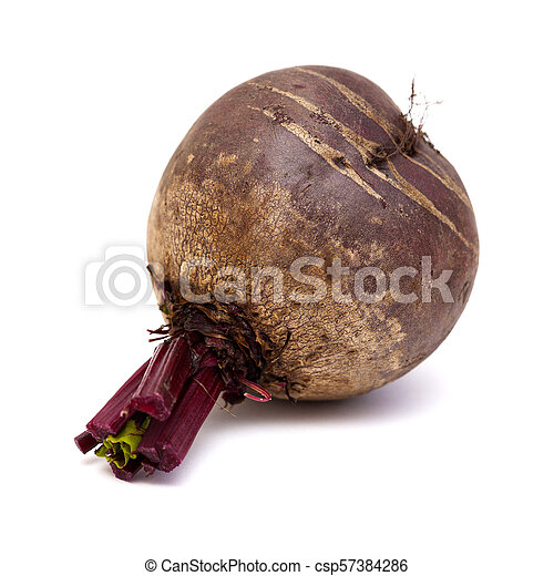 beetroot isolated on white - csp57384286