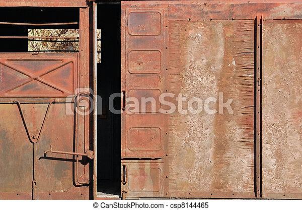 befedett, ingóságok, ajtó, csúszó, tehervagon - csp8144465