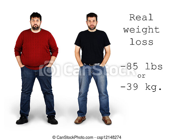 Before and after weight loss - csp12148274