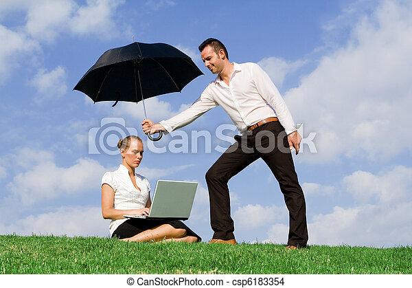 begreb, beskyttelse, forsikring, firma - csp6183354