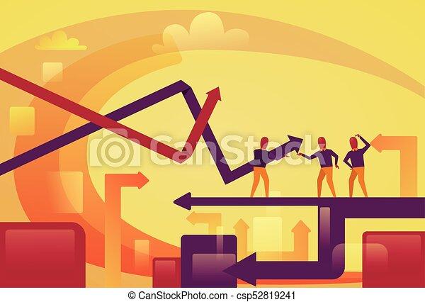 begreb, finansiel fremgang, folk branche, abstrakt, pile, oppe, baggrund - csp52819241