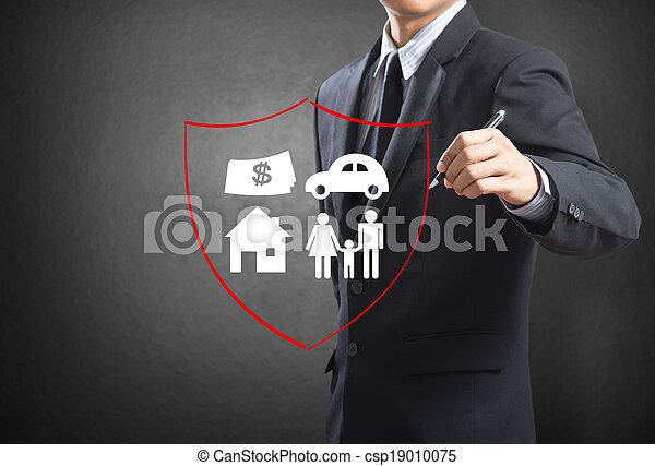 begreb, forsikring - csp19010075