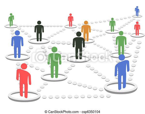 begreb, netværk, firma - csp6350104