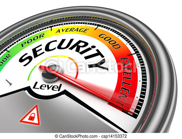begrebsmæssig, garanti, meter, niveau - csp14153372