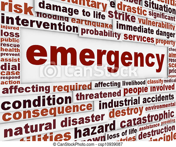 begrebsmæssig, meddelelse, nødsituation, baggrund - csp10939087