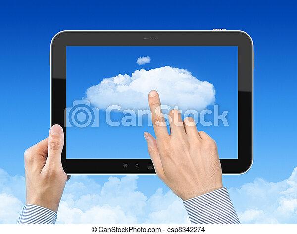 begrepp, arbete, moln, beräkning - csp8342274