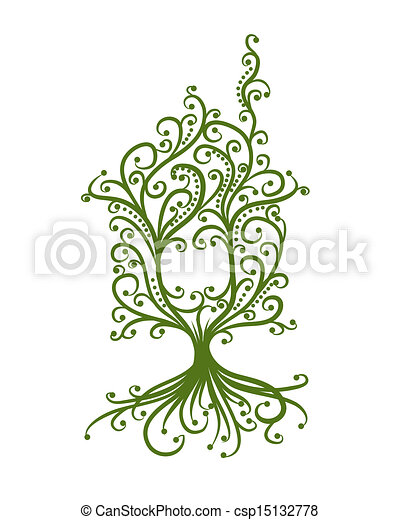 begrepp, hus, ekologi, grön, design, din - csp15132778