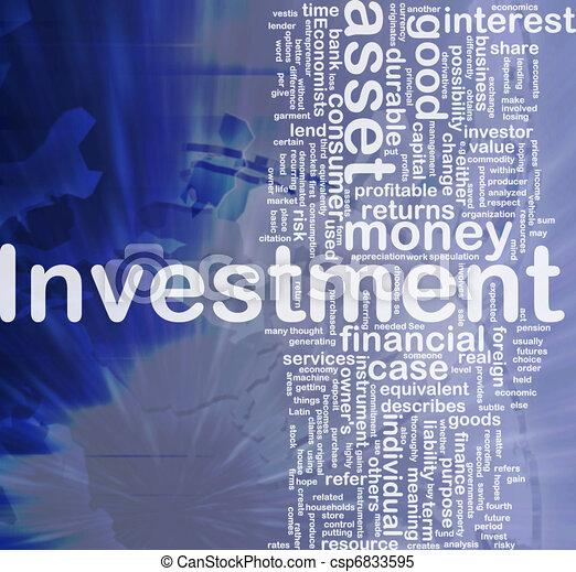 begrepp, investering, bakgrund - csp6833595