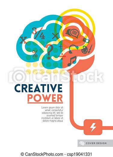begrepp, layout, affisch, täcka, idé, skapande, hjärna, flygare, design, bakgrund, broschyr - csp19041331
