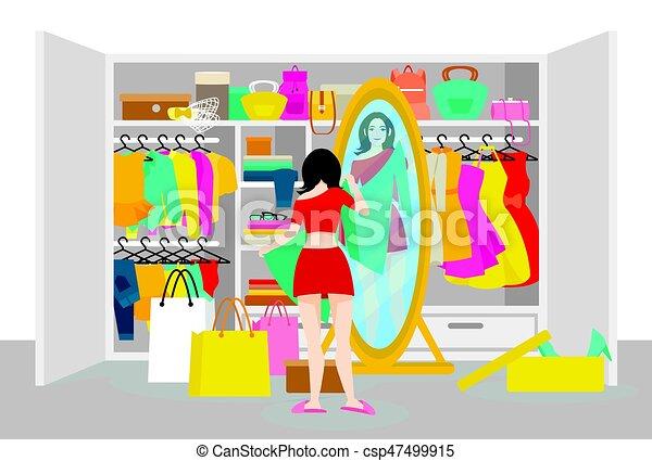 begrepp, mode, färgrik - csp47499915
