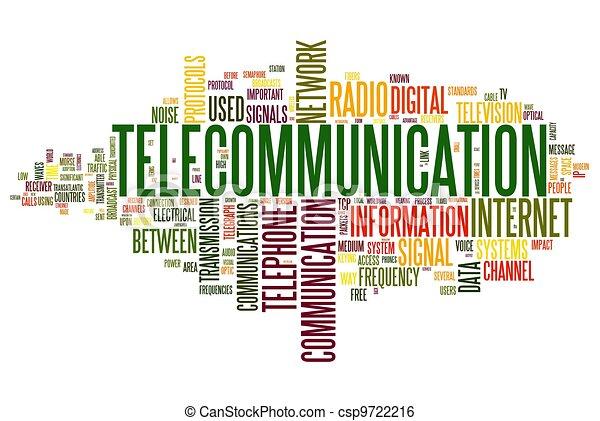 begrepp, ord, telekommunikation, moln, etikett - csp9722216