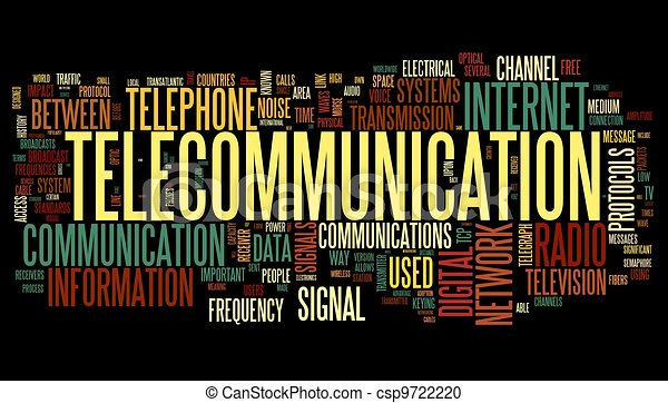 begrepp, ord, telekommunikation, moln, etikett - csp9722220