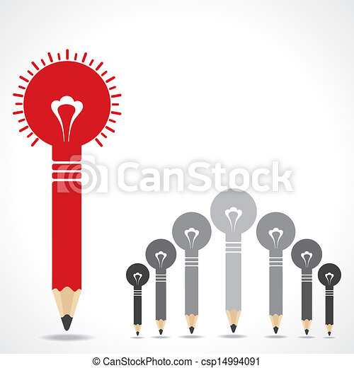 begrepp, skapande, blyertspenna, idé - csp14994091