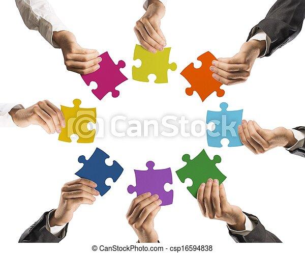begrepp, teamwork, integration - csp16594838