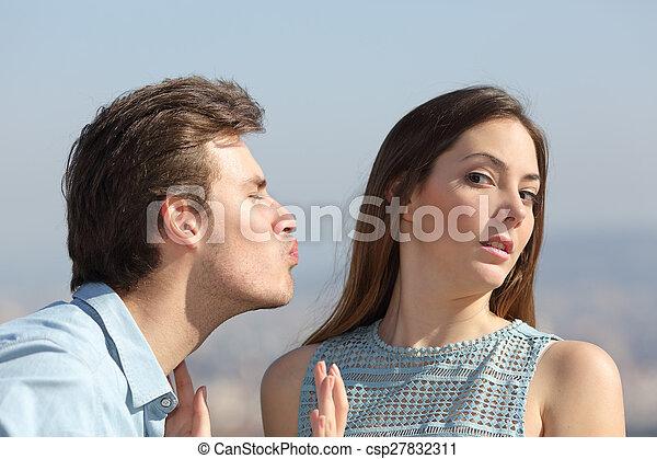begrepp, zon, avvisa, kvinna, vän, man - csp27832311
