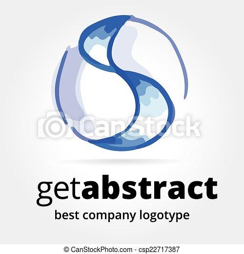 Abstract Vektorlogtype Konzept isoliert auf weißem Hintergrund - csp22717387