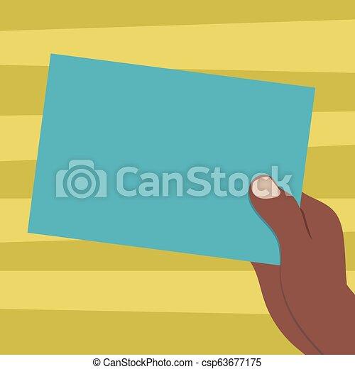 begriff, anzeige, farbe, text, papier, design, leer, kopieren platz, freigestellt, schablone, gezeichnet, leerer , pappe, website, besitz, geschaeftswelt, hu, hand, analyse, vektor, präsentieren - csp63677175