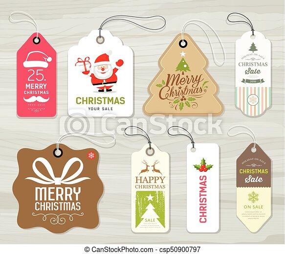 Etiketten Frohe Weihnachten.Begriff Bunte Etikett Papier Frohe Weihnacht