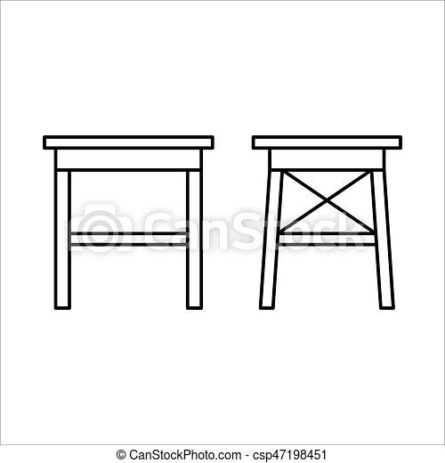 Begriff Design Inneneinrichtung Daheim Lineart Stuhl Mobel