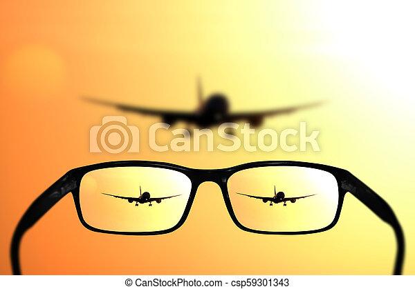 begriff, eben, brille, vision - csp59301343