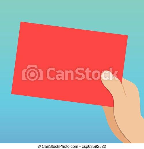 Design Business Konzept leerer Kopiertext für Web-Banner Werbematerial verspottet Vorlagen-Analyse-Hand mit leerem Farbpapier Papp-Vektor - csp63592522