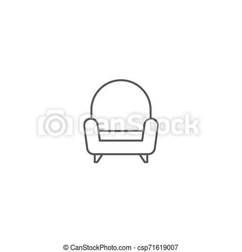Sofa-Vektor-Icon Konzept, isoliert auf weißem Hintergrund - csp71619007