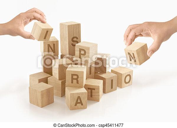Kreativität & Inspiration Konzept auf isoliertem Hintergrund. - csp45411477