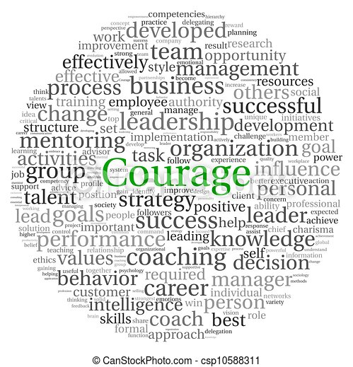 Courage Konzept in Word Tag Wolke - csp10588311