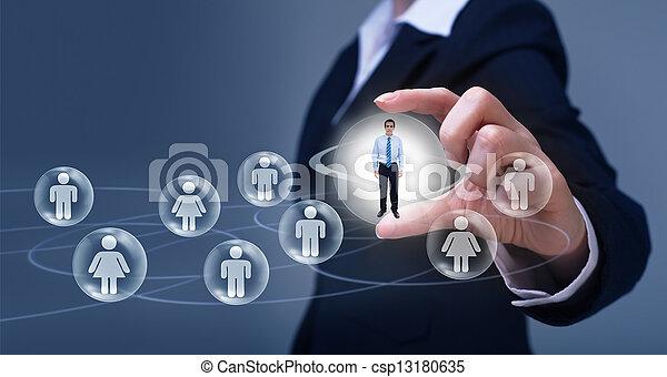Soziales Vernetzungskonzept - csp13180635