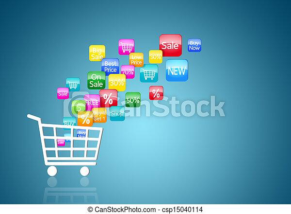 Internet Online Shopping Konzept - csp15040114