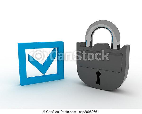 begriff, sicherheit - csp20069661