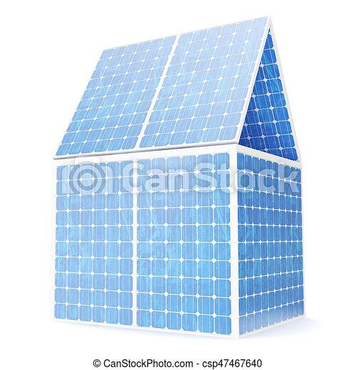 Begriff, Solare Elektrizität, Haus, Energie, Source., Abbildung, Energie,