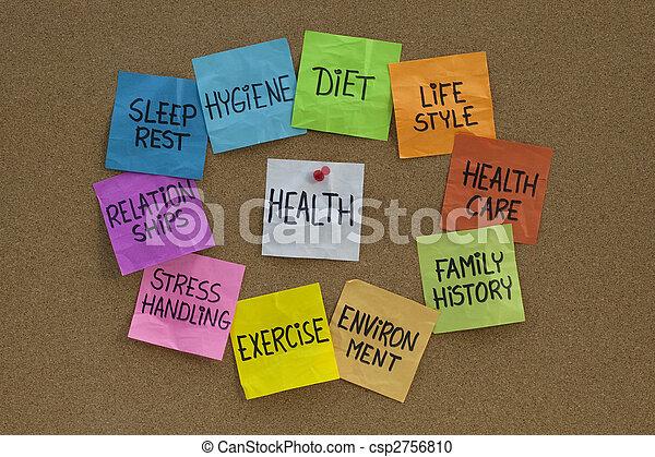 begriff, themen, -, verwandt, gesundheit, wörter, wolke - csp2756810