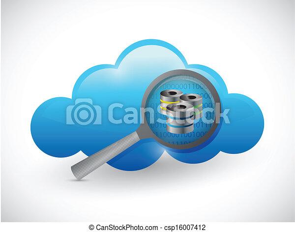 begriff, vergrößern, abbildung, server, daten, wolke - csp16007412