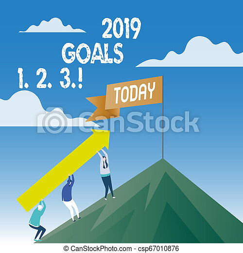 begriff, wort, anfänge, geschaeftswelt, plans., text, schreibende, 1, 2, 2019, ziele, organisieren, zukunft, auflösung, 3. - csp67010876