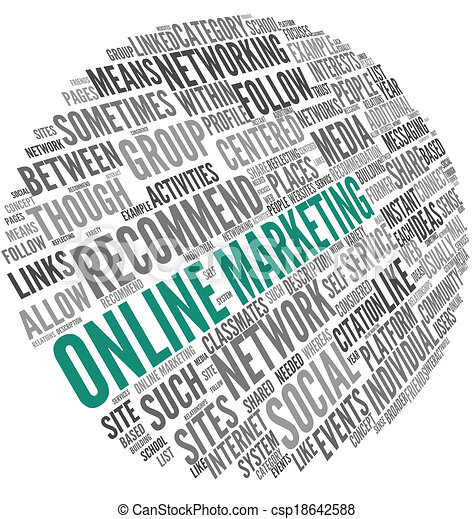 Online Marketing Konzept in Word Tag Cloud - csp18642588