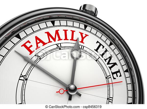 begriff zeit familie uhr begriff hintergrund familie stock illustration suche vektor. Black Bedroom Furniture Sets. Home Design Ideas