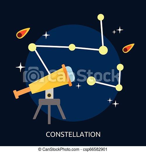 Constellation Conceptual Illustration Design - csp66582901