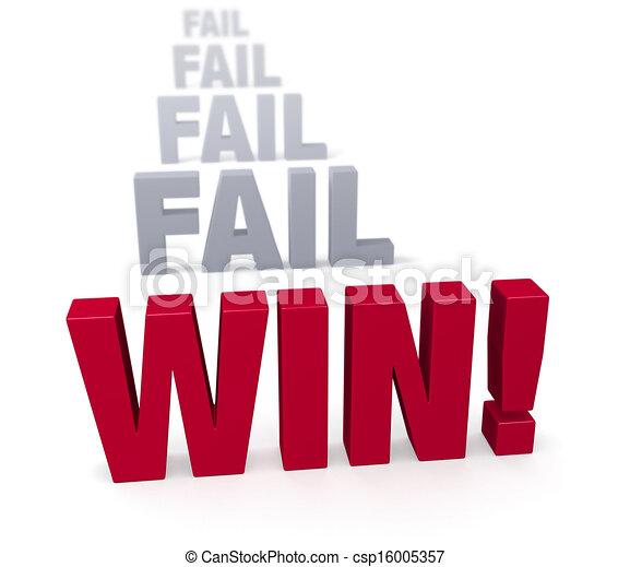 Persist zu gewinnen! - csp16005357