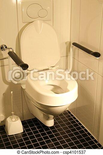 behinderung , toilette - csp4101537