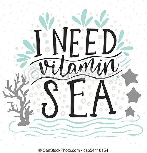 behoefte, vitamine, sea. - csp54418154