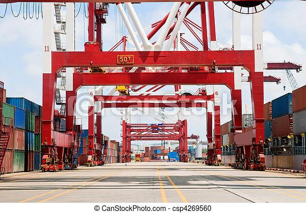 beholder, losse, skib, last - csp4269560