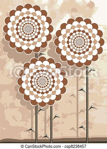 Beige flowers - csp8238457