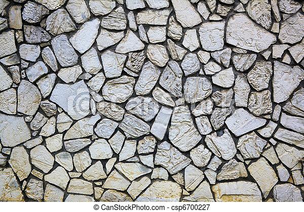 Beige or Tan Rock Wall - csp6700227