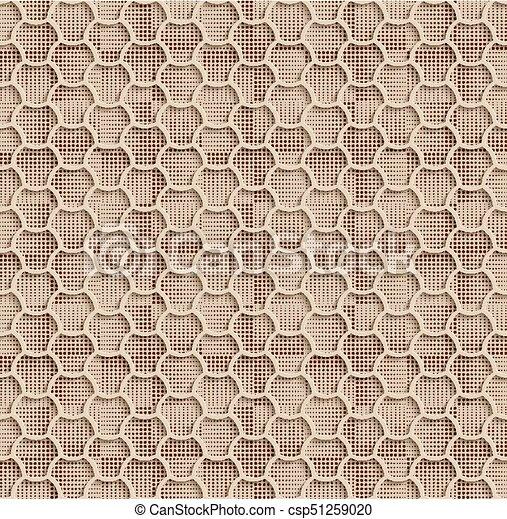 Beige Seamless Web Hexagon Pattern - csp51259020