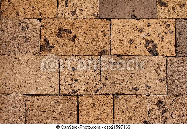 Beige stone texture - csp21597163