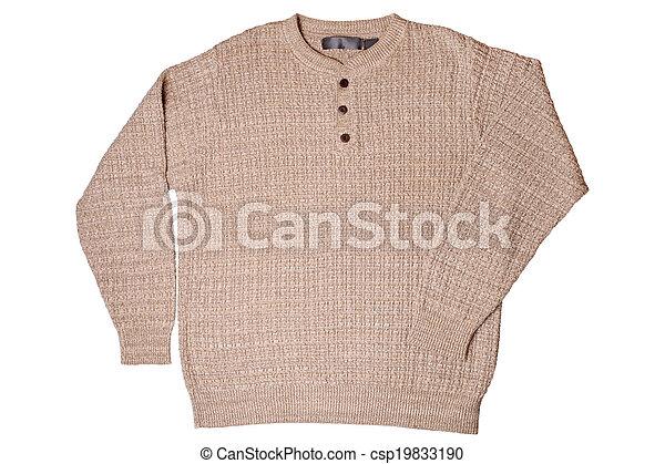 Beige sweater - csp19833190