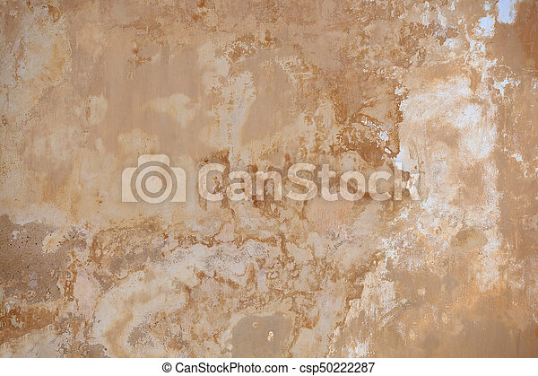 Beige wall with mold - background - csp50222287